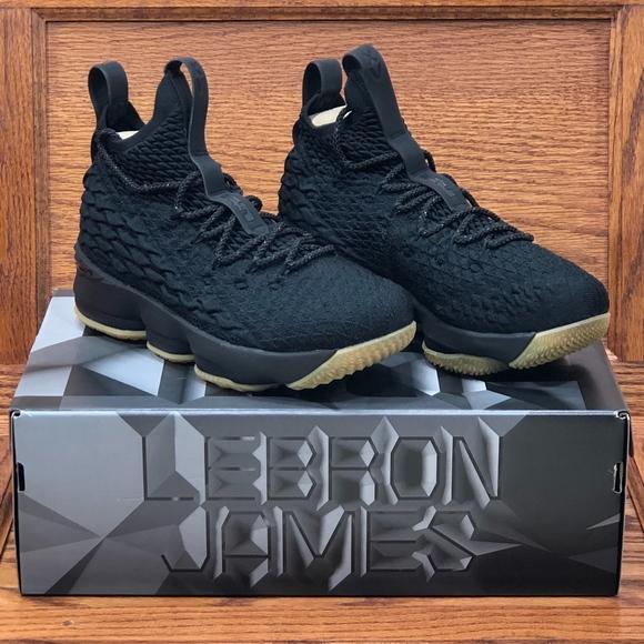 526e55d87848 Nike Shoes | Lebron Xv Gs Black Noir | Poshmark